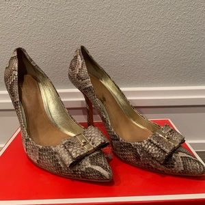 Coach Snake Print Heels